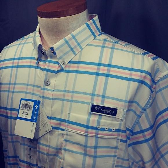 f144c2980fb Columbia Shirts | Pfg Super Harborside Woven Plaid Shirt | Poshmark